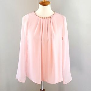 MOON COLLECTION Blush Pink Spike Studded Blouse